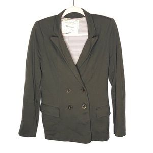 Anthro cartonnier double breasted olive blazer